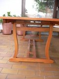 Solid Teak Table extendable very large like new in Ramstein, Germany