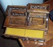 Wooden Miniature roll top desk jewelry box in Naperville, Illinois